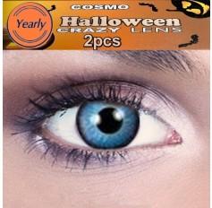 Pixie Blue CONTACTS Fancy Dress Crazy Halloween Contact Lenses Lens 12 Month wear (2 lenses)