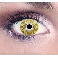 Yellow Rave contact lenses 1 year