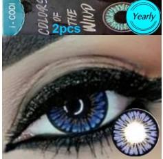 Blue Coloured Contact lenses 3 TONE Colours of Wind UNDER THE SEA contact lens Pair Blue Contacts (2 Lenses)