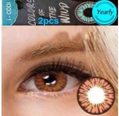 Peach Hazel Coloured Contact lenses 3 TONE Colours of Wind ROSE MACARON contact lens Pair Contacts (2 Lenses)