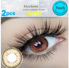 BROWN Contact Lenses 1 Year Usage Cuno 3 Tone Brown Coloured Natural Looking Lens