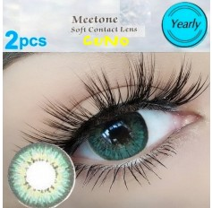 GREEN Contact Lenses 1 Year Usage Cuno 3 Tone Green Coloured Natural Looking Lens
