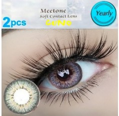 GREY Contact Lenses Year Usage Cuno 3 Tone Grey Coloured Natural Looking Lens