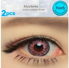 RED Coloured Contact Lenses Annual 1 Year Wear Cupid Pair