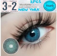 DARK GREY / JADE Contact Lenses Lens NEW YORK 3 Tone Grey Green Coloured Contacts lens Extended wear (2 lenses)