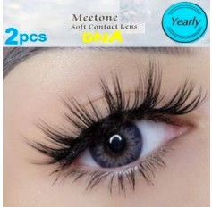 Fusion Pink Violet Coloured Three Tone DNA Contact Lenses Pair (Annual)