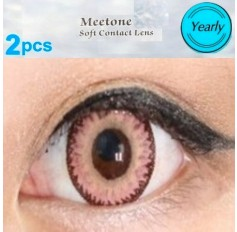 PINK Contact Lens Anual Wear Pink Cosmetic Coloured Contact Lenses Dodo Pair