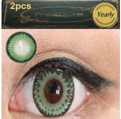 GREEN 2 TONE Meetone DODO Contact Lens 12 MONTH wear lenses Green Coloured Contacts (2 lenses)