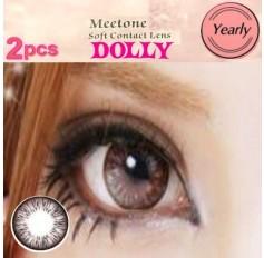 GREY Contact lenses Yearly Big Eye Circle fashion coloured Contact Lenses Dolly 3 Tone (2 lenses)