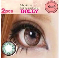 GREEN Contact lenses Yearly Big Eye Circle fashion coloured Contact Lenses Dolly 3 Tone (2 lenses)