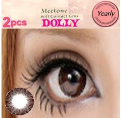 BROWN Contact lenses Yearly Big Eye Circle fashion coloured Contact Lenses Dolly 3 Tone (2 lenses)