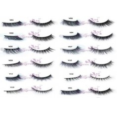 False Eyelashes - Choose 12 styles - Dramatic Full Dense Wispy Natural Crisscross
