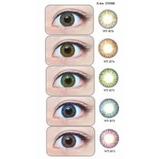 GEO Stella 3 Tone Coloured contact Lenses - 1 Year (Pair) Blue Green Brown Hazel Purple