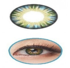 BLUE GREEN Contact Lens Anual 1 Year Wear Giselle Rainbow 3 Tones Blue Coloured Contact lenses Pair