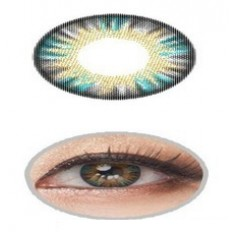 GREY BLUE Contact Lens Anual 1 Year Wear Giselle Rainbow 3 Tones Grey Coloured Contact lenses Pair