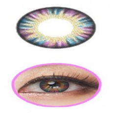 PINK 12 Month Wear 3for2 on ALL Contact Lenses Lens RAINBOW Natural Coloured 3 TONE Contacts Lens (2 lenses)