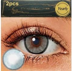 Grafite GREY 2 TONE Hidrocharme Hidrocor Freshgo Contact Lens 12 MONTH wear lenses Grey Coloured Contacts (2 lenses)