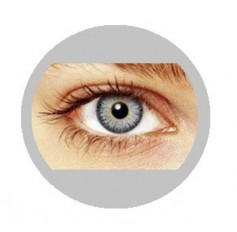 Grey natural contact lenses