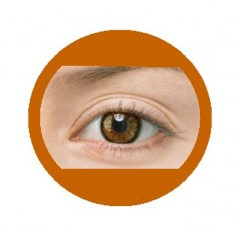Hazel natural contact lenses