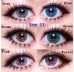 EOS LUNA ICE II Circle lenses Coloured - 1 Year (Pair) Grey Hazel Pink Violet Blue Green Brown