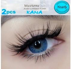 Kana Blue Coloured Contact Lenses 3 Tone Pair (365 Days)