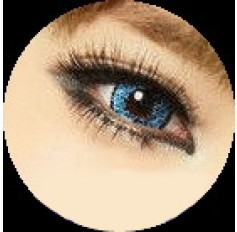 BLUE Cosmetic Contact Lenses Kilala Popcorn - 1 Year (Pair)