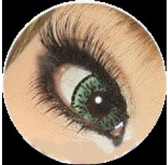 GREEN Cosmetic Contact Lenses Kilala Popcorn - 1 Year (Pair)