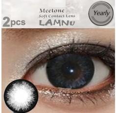 GREY Contact lenses 1 Year wear Big Eye Grey Circle fashion coloured Contact Lenses LANMU 2 Tone (2 lenses)