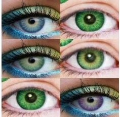 Coloured Contact Lenses Lavender 3 TONE - 1 Year (Pair) Violet Green Blue