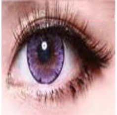 VIOLET PURPLE Circle lenses Natural Coloured Contact lenses EOS LUNA ICE II - 1 Year (Pair)