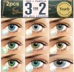 HIGH PIGMENT 1 Tone Blue Green Grey Brown Contact Lenses 365 days (Pair)