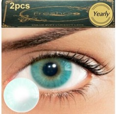 Blue Green Marine Hidrocor Freshgo Contact Lens 3for2 on all Annual 12 MONTH wear lenses Natural Grey Coloured Contacts No limbal ring (2 lenses)