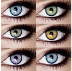 Coloured Contact Lenses Marine 2 Tones - 1 Year (Pair) Aqua Blue Brown Green Violet Grey