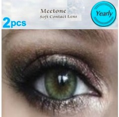 GREEN 12 month wear 3for2 on ALL Contact Lenses Lens MEL Natural Coloured Contacts lenses lens (2 lenses)