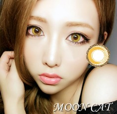 MOONCAT Brown Coloured Contact Lenses (Pair) - 1Year