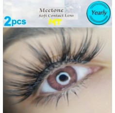 PINK MT01 Contact Lenses Lens 3 Tone Blue Coloured Contacts lens Extended wear (2 lenses)