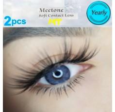DARK BLUE MT02 Contact Lenses Lens 3 Tone Blue Coloured Contacts lens Extended wear (2 lenses)
