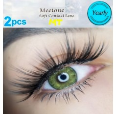 DARK GREEN MT04 Contact Lenses Lens 3 Tone Blue Coloured Contacts lens Extended wear (2 lenses)