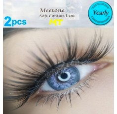 GREY PURPLE MT10 Contact Lenses Lens 3 Tone Blue Coloured Contacts lens Extended wear (2 lenses)