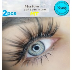 LIGHT GREY MT12 Contact Lenses Lens 3 Tone Blue Coloured Contacts lens Extended wear (2 lenses)