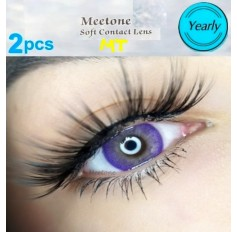 VIOLET MT16 Contact Lenses Lens 3 Tone Blue Coloured Contacts lens Extended wear (2 lenses)