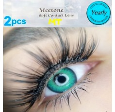 VIVID GREEN MT18 Contact Lenses Lens 3 Tone Blue Coloured Contacts lens Extended wear (2 lenses)