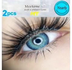 VIVID BLUE GREEN MT19 Contact Lenses Lens 3 Tone Blue Coloured Contacts lens Extended wear (2 lenses)