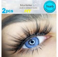 BRIGHT BLUE MT23 Contact Lenses Lens 3 Tone Blue Coloured Contacts lens Extended wear (2 lenses)