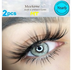GREY MT24 Contact Lenses Lens 3 Tone Blue Coloured Contacts lens Extended wear (2 lenses)