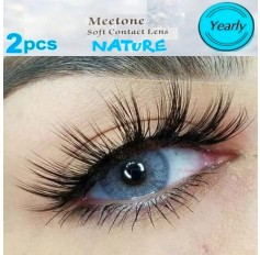 Grey Natural Coloured Contact lenses Two Tone (365 Days)