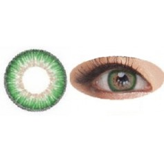 GREEN Contact lenses Naty B puffy 3 Tones - 1 Year (Pair)