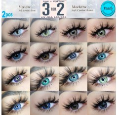3 TONE Green Grey Brown Blue Violet Contact lens (365 days wear)