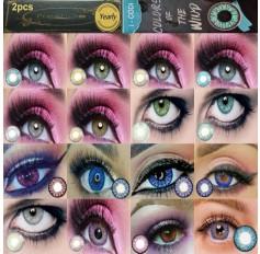 3 TONE Blue Green Grey Brown Turqouise Purple Pink Peach Fashion Contact lens (Pair) Freshgo Colors Wind Coloured fashion lenses