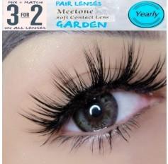 GREY 12 month wear Contact Lenses Lens AL GARDEN Natural Grey Coloured Contacts lens (2 lenses)